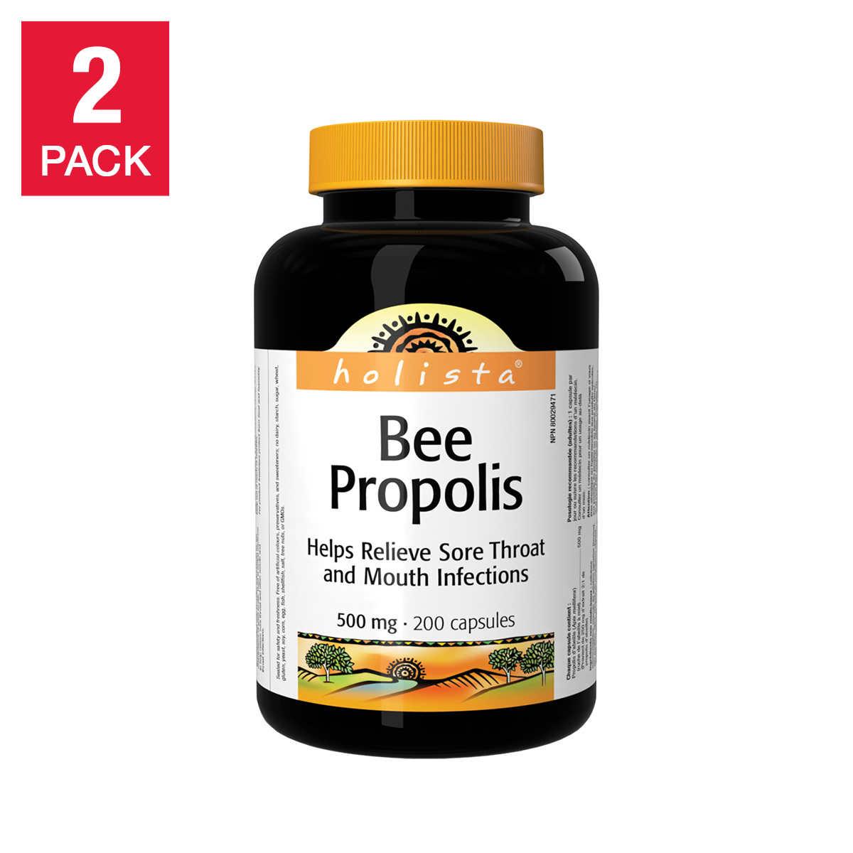 Holista Bee Propolis 500mg 2 x 200 Capsules