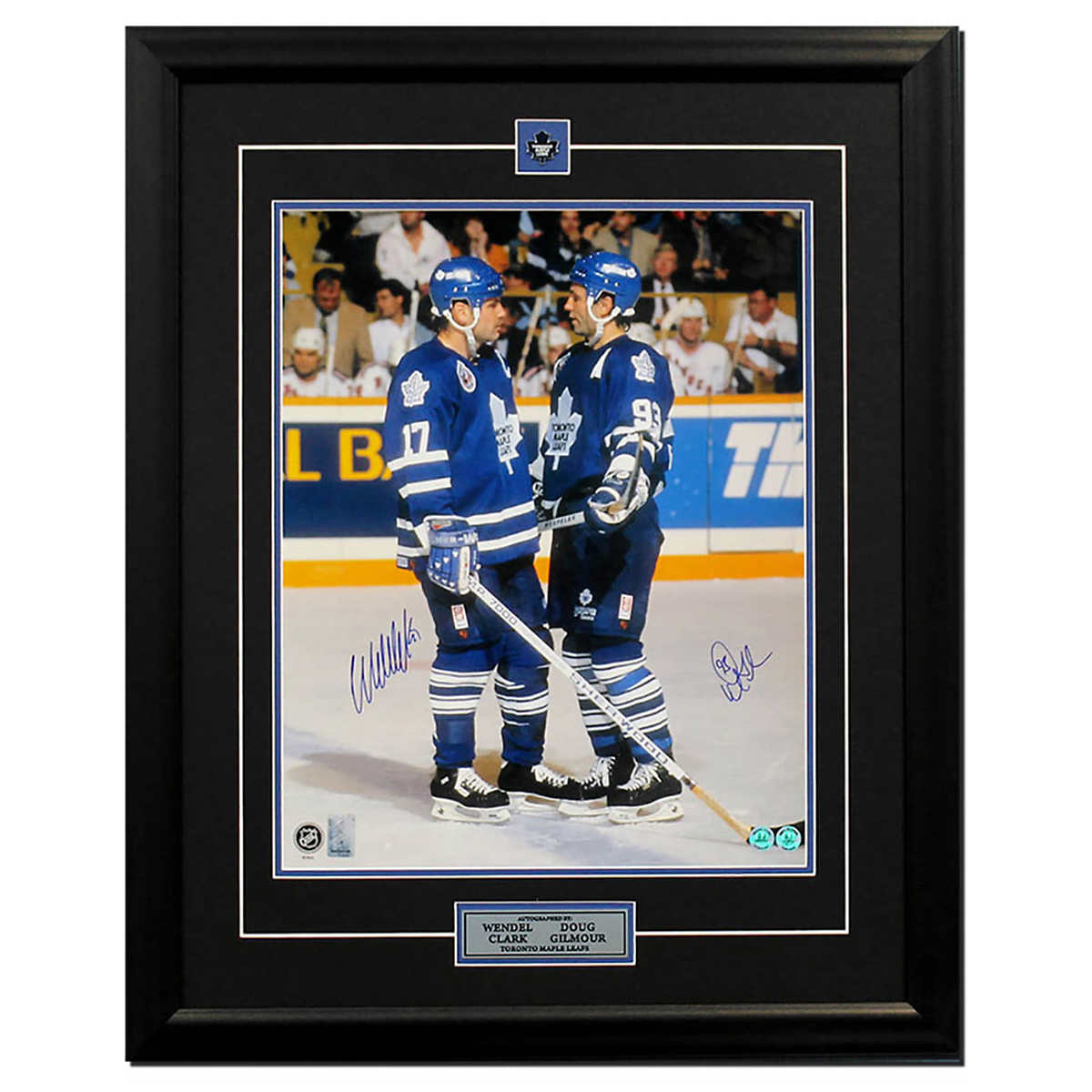 new product 3a149 60f91 Doug Gilmour and Wendel Clark Toronto Maple Leafs Dual Signed Frame Photo