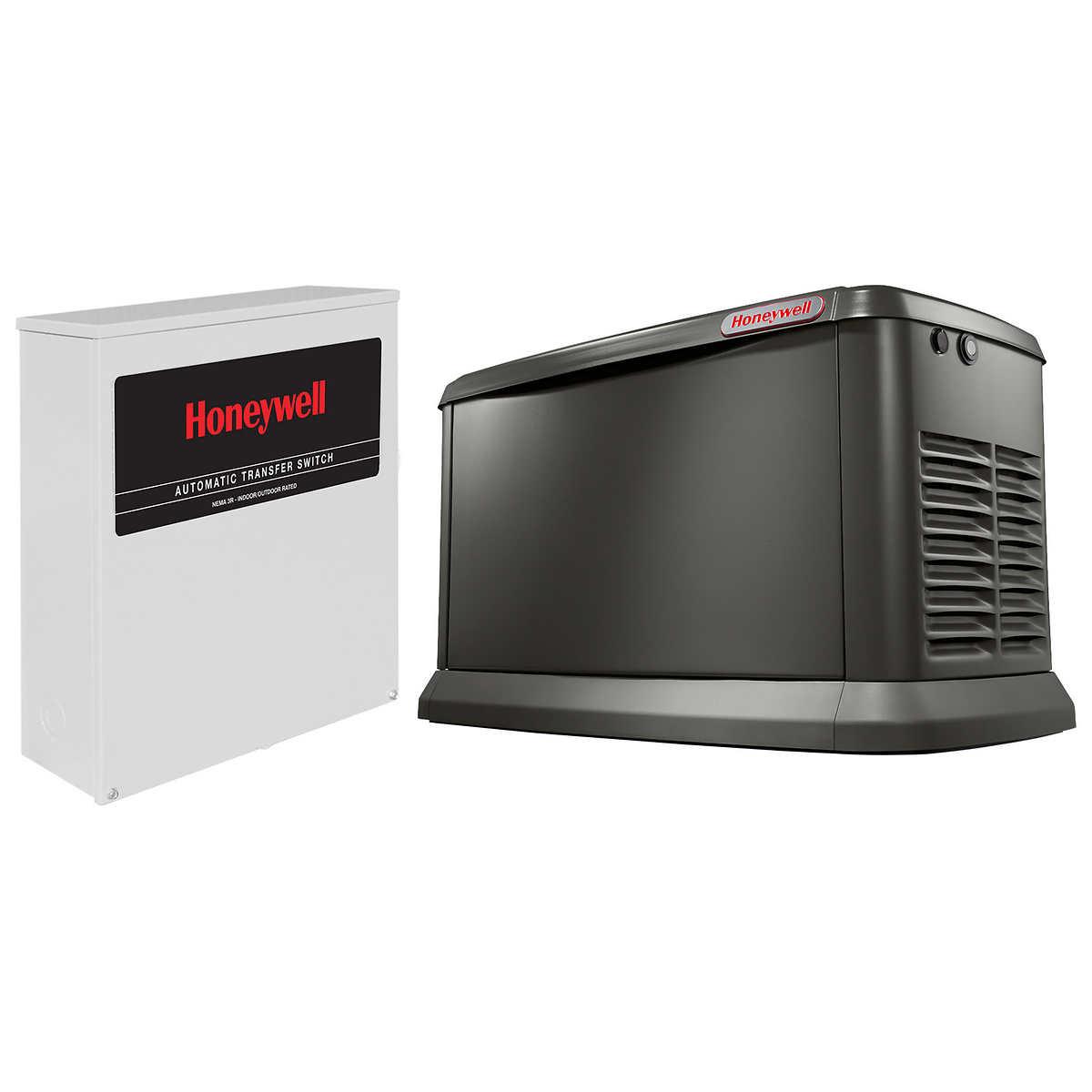 Honeywell by Generac 20 kW Automatic Standby Generator with Wi-Fi & 200 A  Transfer Switch
