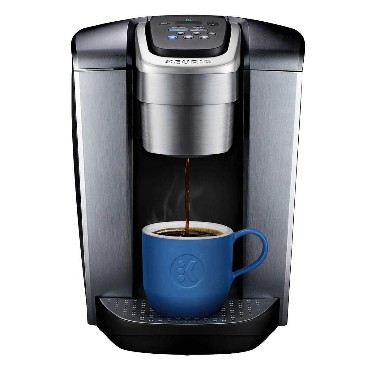 Keurig K-Elite Plus+ Brushed Silver Bundle with My K-Cup Reusable Coffee  Filter