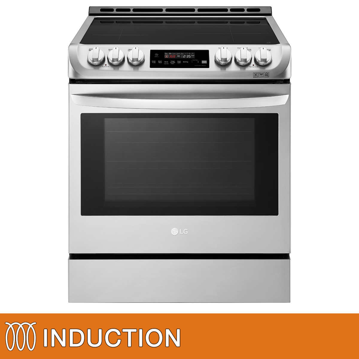 LG 30 in  Induction Slide-in Range with ProBake Convection and EasyClean  Technology