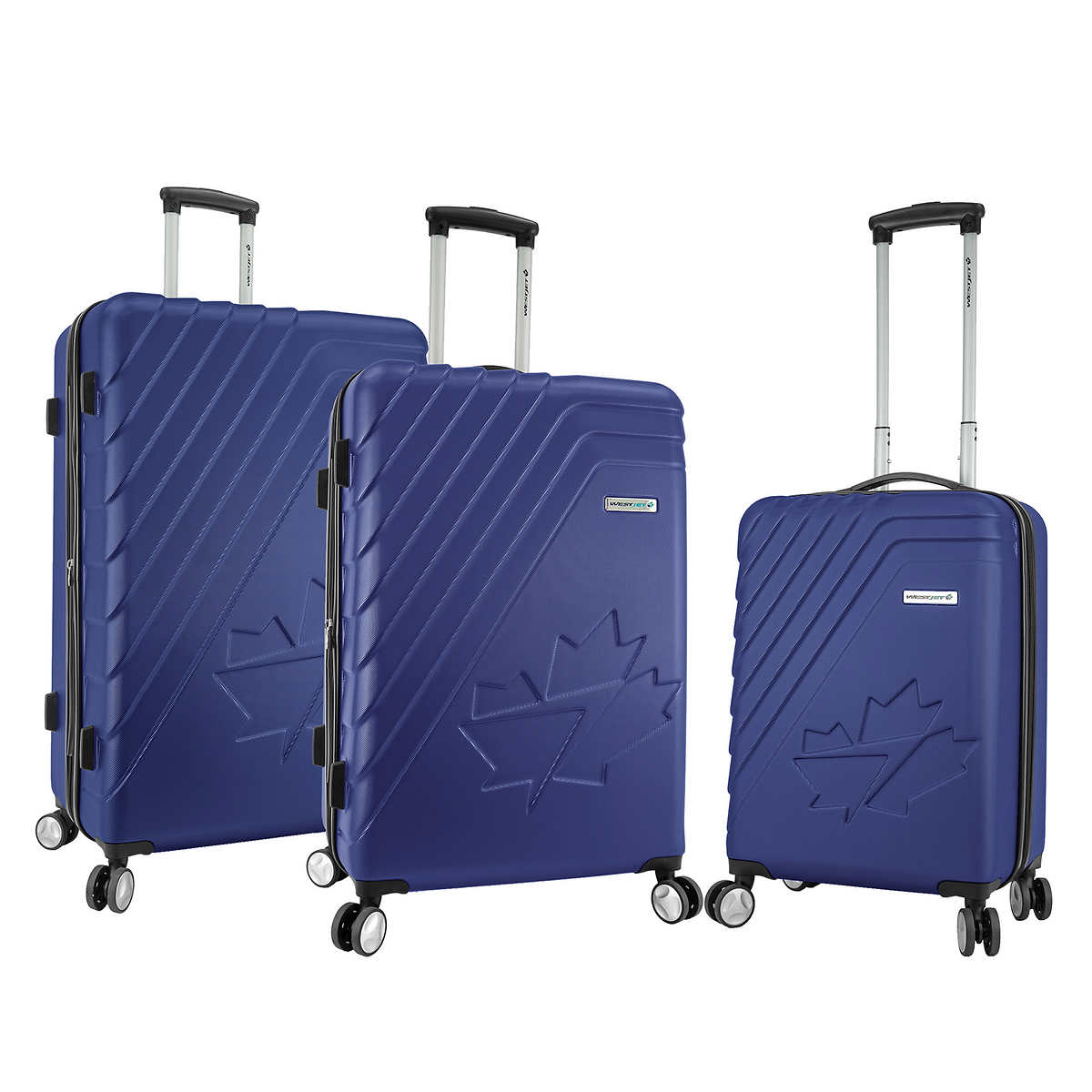 5eba29ba86d8 WestJet Saturn Collection 3-piece Hardside Luggage Set
