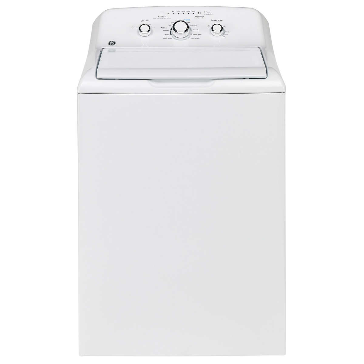 GE 4 4 cu  ft  White Top Load Washer with Stainless Steel Basket