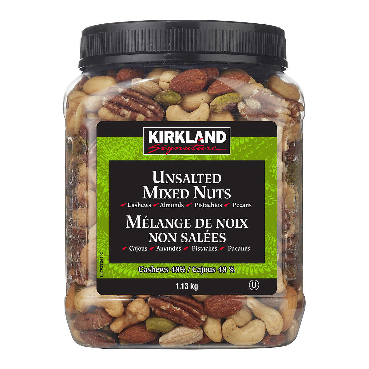 Kirkland Signature Unsalted Mixed Nuts, 1 13 kg (2 49 lb)