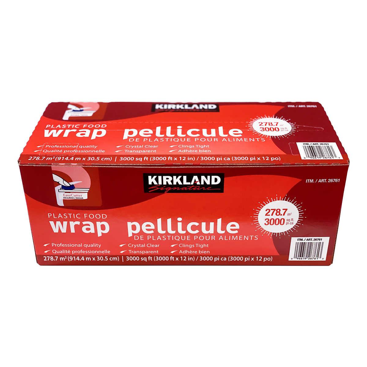 Kirkland Signature Plastic Food Wrap, 30 5 cm × 914 4 m (12 in × 3,000 ft)