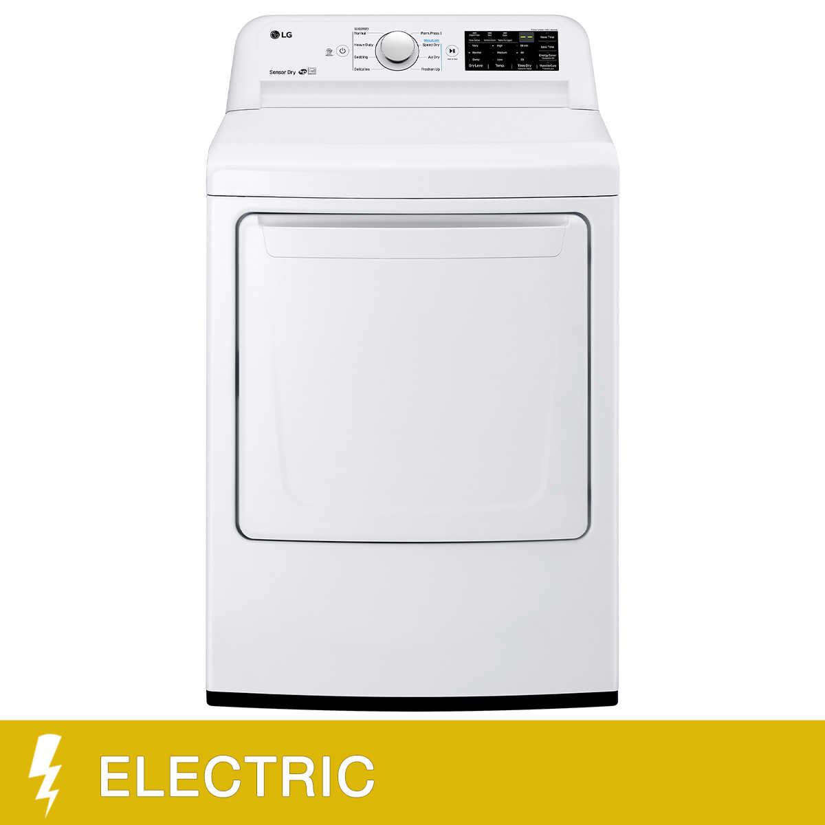 LG 7 3 cu ft Front Load Dryer with Sensor Dry System