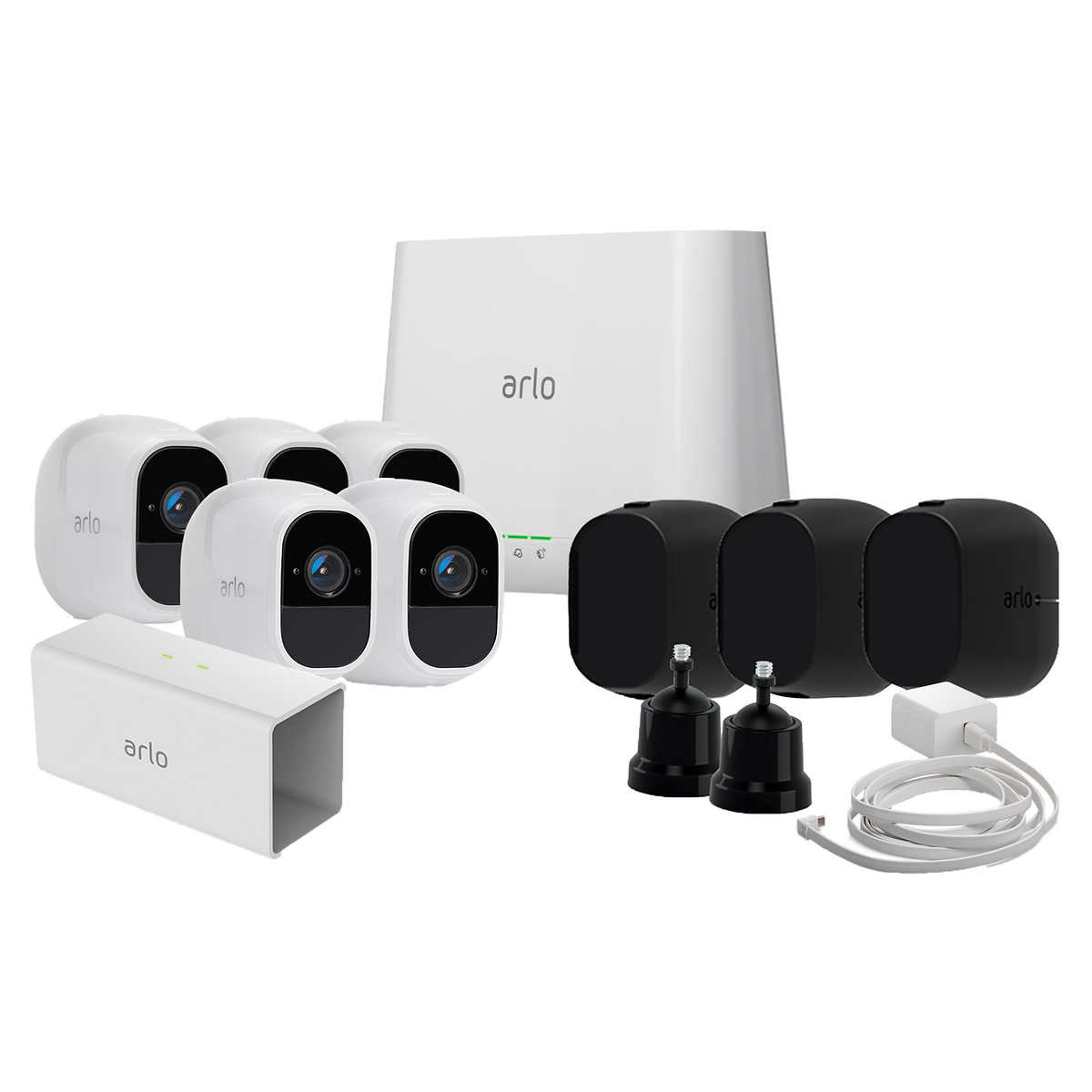 Arlo Pro 2 Wire-free Surveillance System Bundle with 5 HD Cameras