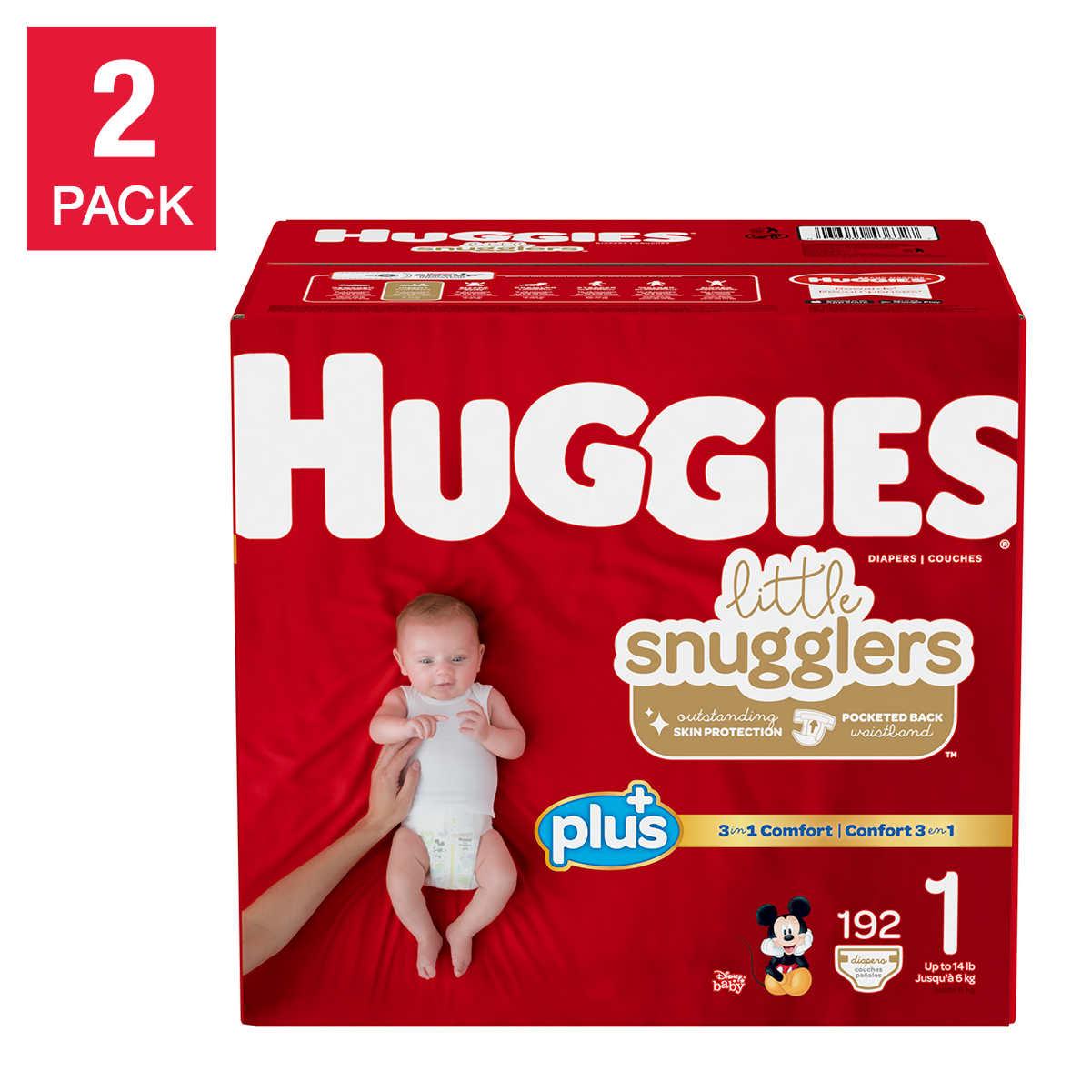 Huggies Plus Diapers Sizes 1 6 2 Pack