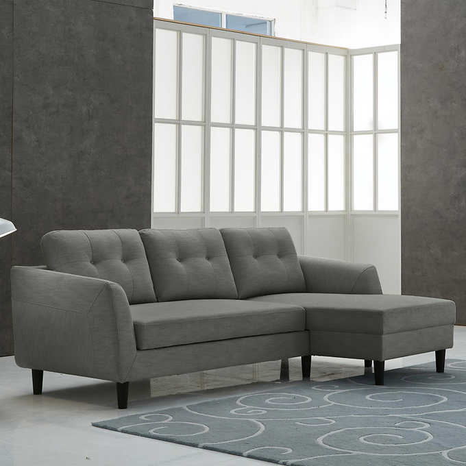 Biaggio Fabric Right Hand Facing Sectional With Pull Up Sofa Bed