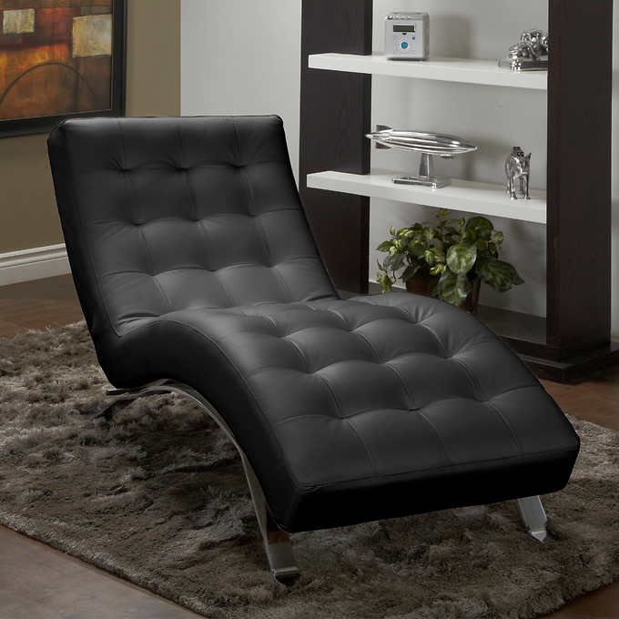 Novel Top Grain Leather Recliner Chaise Lounge