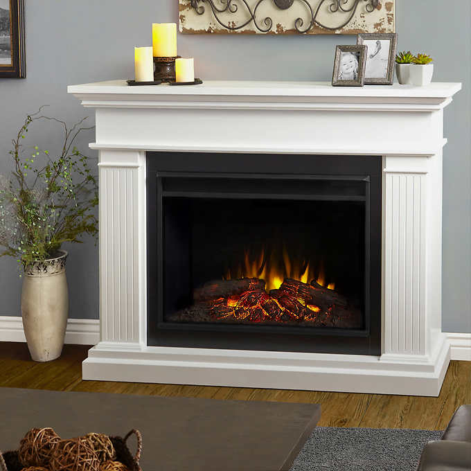 Phenomenal Real Flame Kennedy Grand Mantel Electric Fireplace Download Free Architecture Designs Griteanizatbritishbridgeorg