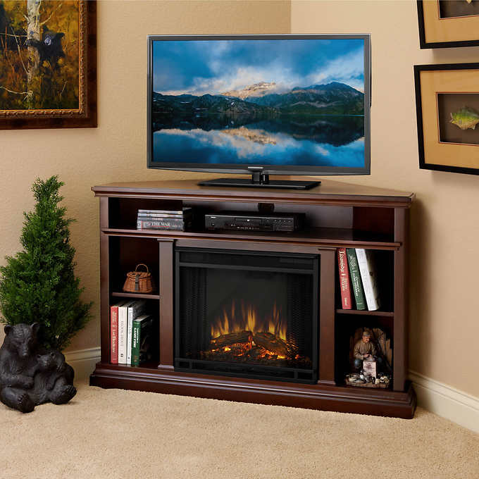 Real Flame Churchill 51 In Corner Electric Fireplace And Media
