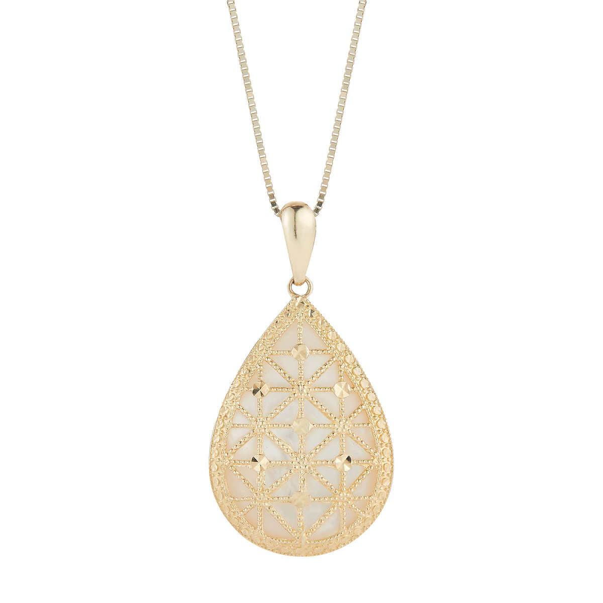 0cf7089059092 Pear Shaped Mother of Pearl Pendant