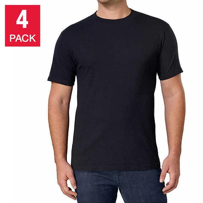 36a9c742 Out of Stock Kirkland Signature Men's Crew Neck T-Shirt, 4-pack. 4 pack  black shirt ...