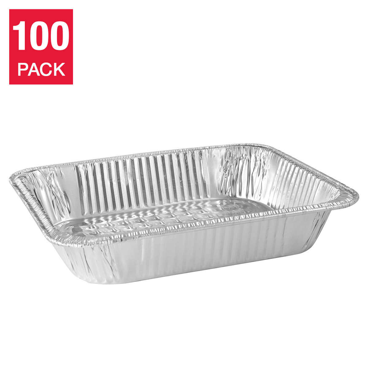 Titan Half Steam Deep Table Aluminum Pans, 100-count
