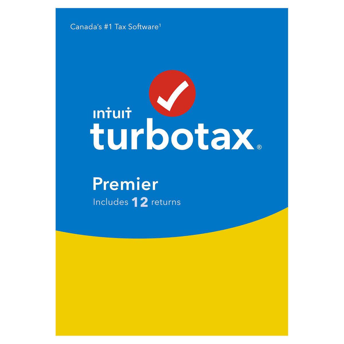 Intuit TurboTax Premier 2018, 12 Returns, English, Digital Download
