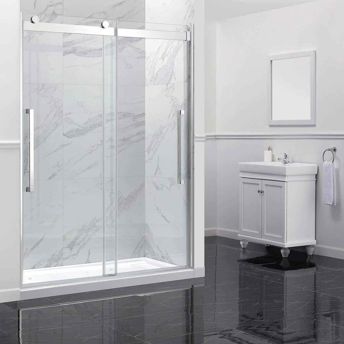 Ove Montebello 60 In Shower Door With Base