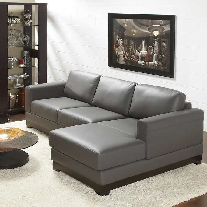 Superb Galaxy Top Grain Leather Sofa With Right Hand Facing Chaise Gamerscity Chair Design For Home Gamerscityorg