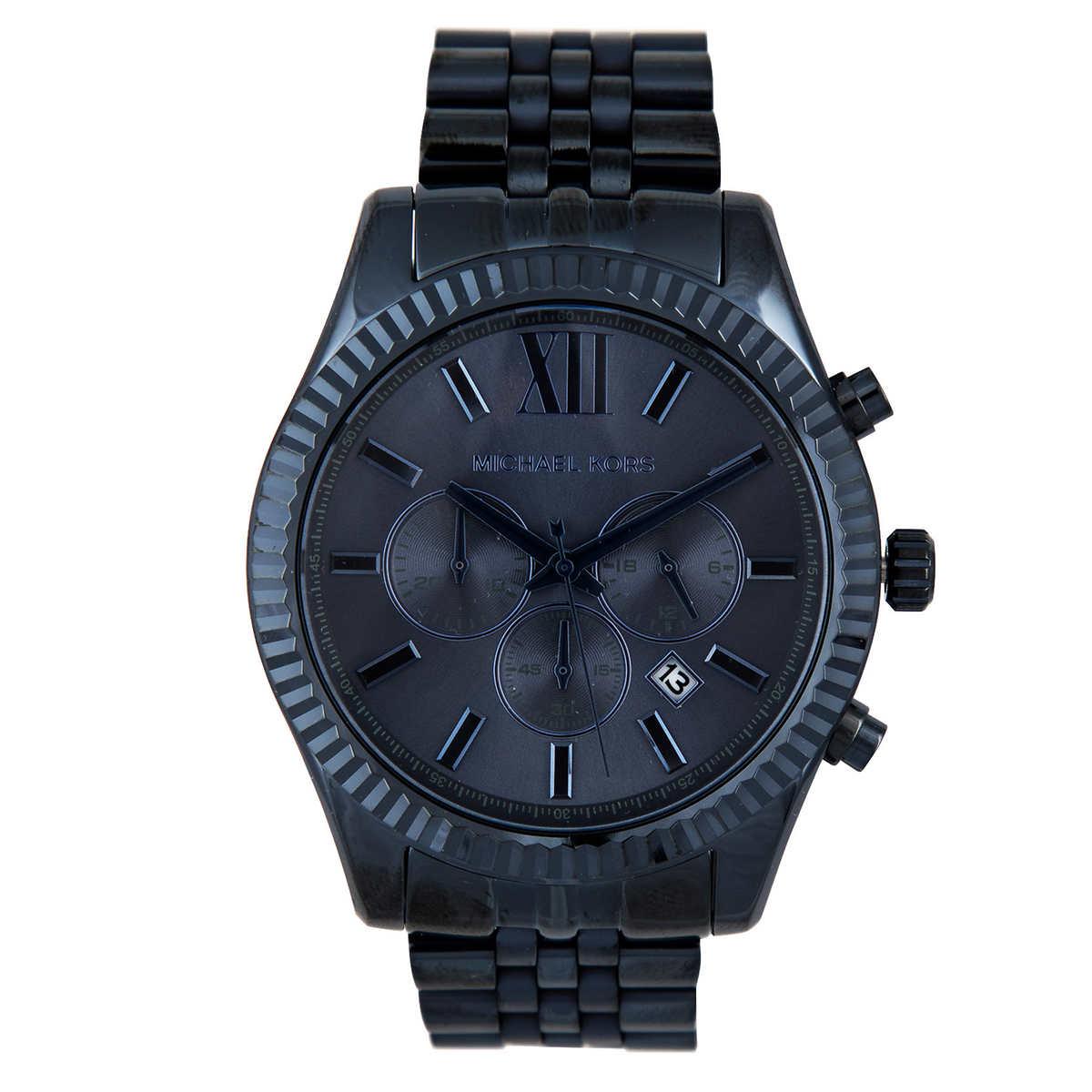 69fcd8bfb7b4 Michael Kors Lexington Blue Dial Men s Watch. 1 1