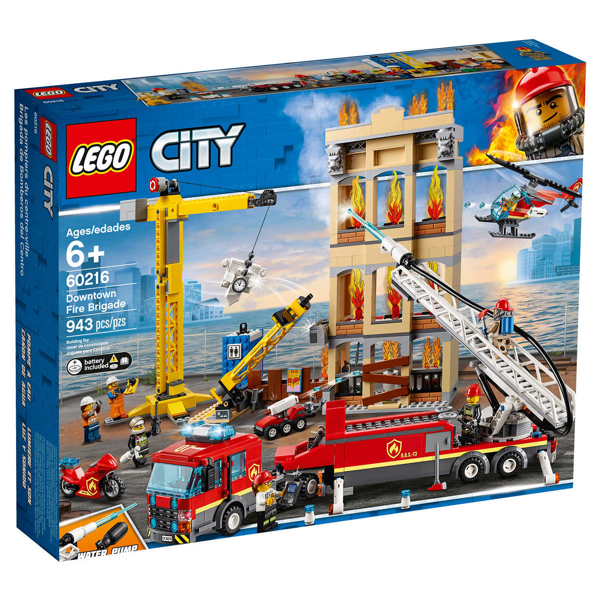 Lego Fire Downtown City City Lego Fire Brigade Downtown XNOZ8nk0wP