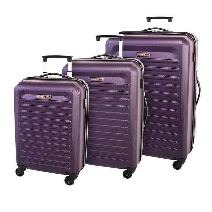 2fba2ad0b ... Gear Intercontinental Collection 3-piece Hardside Luggage Set. purple 1  purple 1