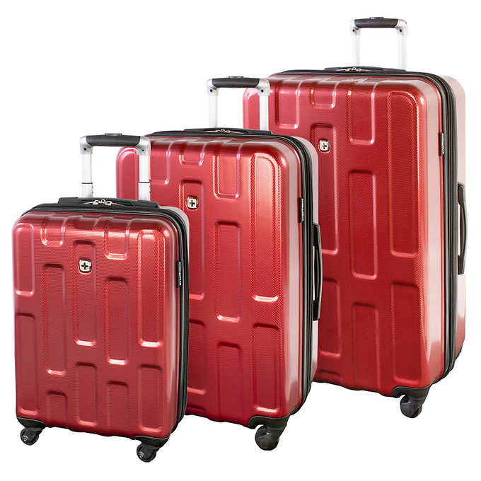 b9bd3171b ... Gear Embassy Collection 3-piece Hardside Luggage Set. red 1 red 1