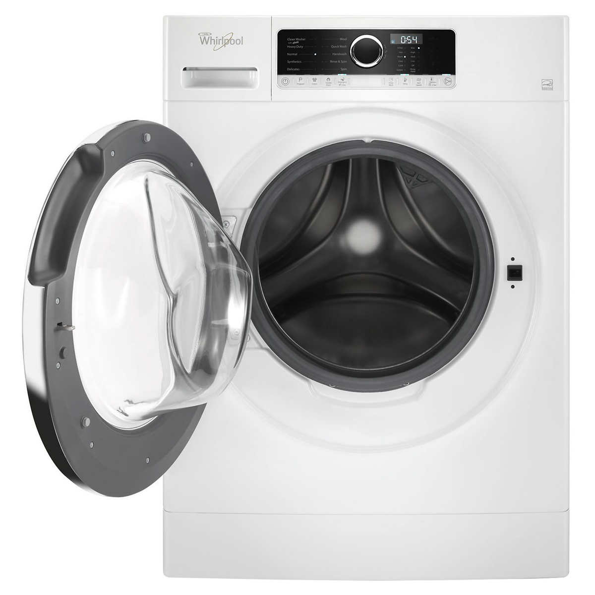 Whirlpool 2 6 cu  ft  White Front-load Compact Washer with Save Time Option