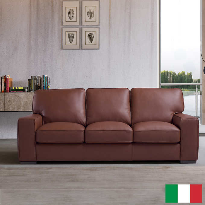 Remarkable Aria Top Grain Leather Sofa Bralicious Painted Fabric Chair Ideas Braliciousco