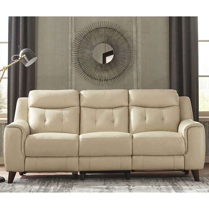 Strange Elmhurst Top Grain Leather Power Reclining Sofa Gmtry Best Dining Table And Chair Ideas Images Gmtryco