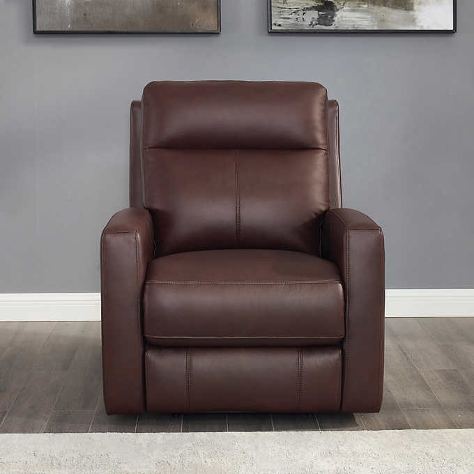 Magnificent Capprio Top Grain Leather Power Reclining Chair Caraccident5 Cool Chair Designs And Ideas Caraccident5Info