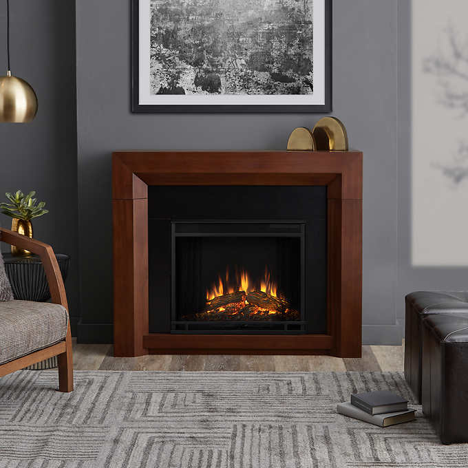 Sensational Real Flame Hughes 106 7 Cm 42 In Fireplace Mantel Home Remodeling Inspirations Genioncuboardxyz