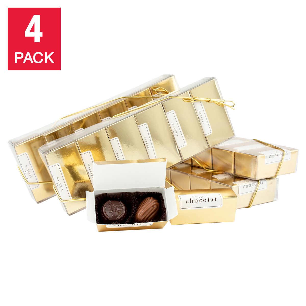 Galerie Au Chocolat Gold Belgian Chocolate Gift Box 4 Pack