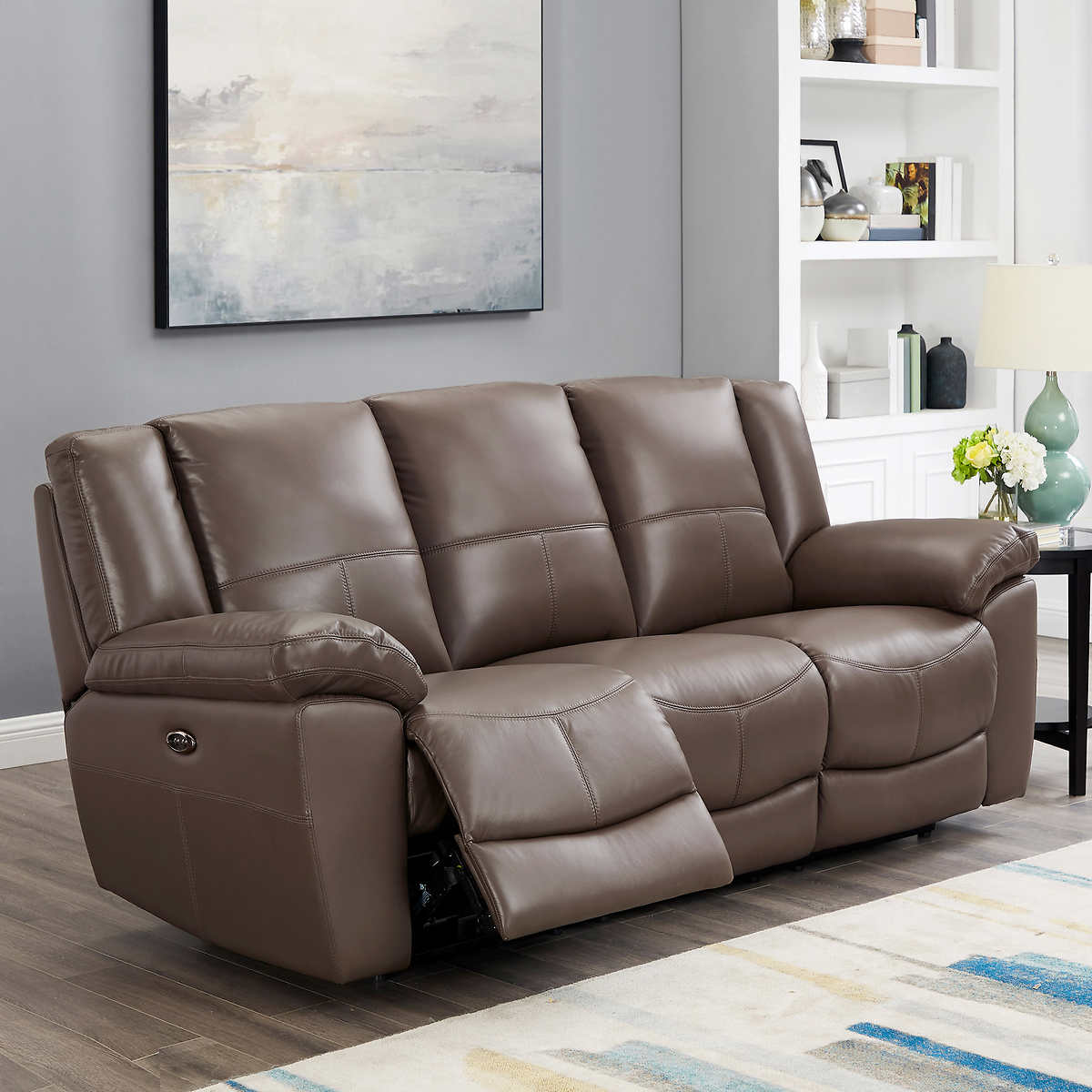 Weston Traditional Top Grain Leather Power Reclining Sofa