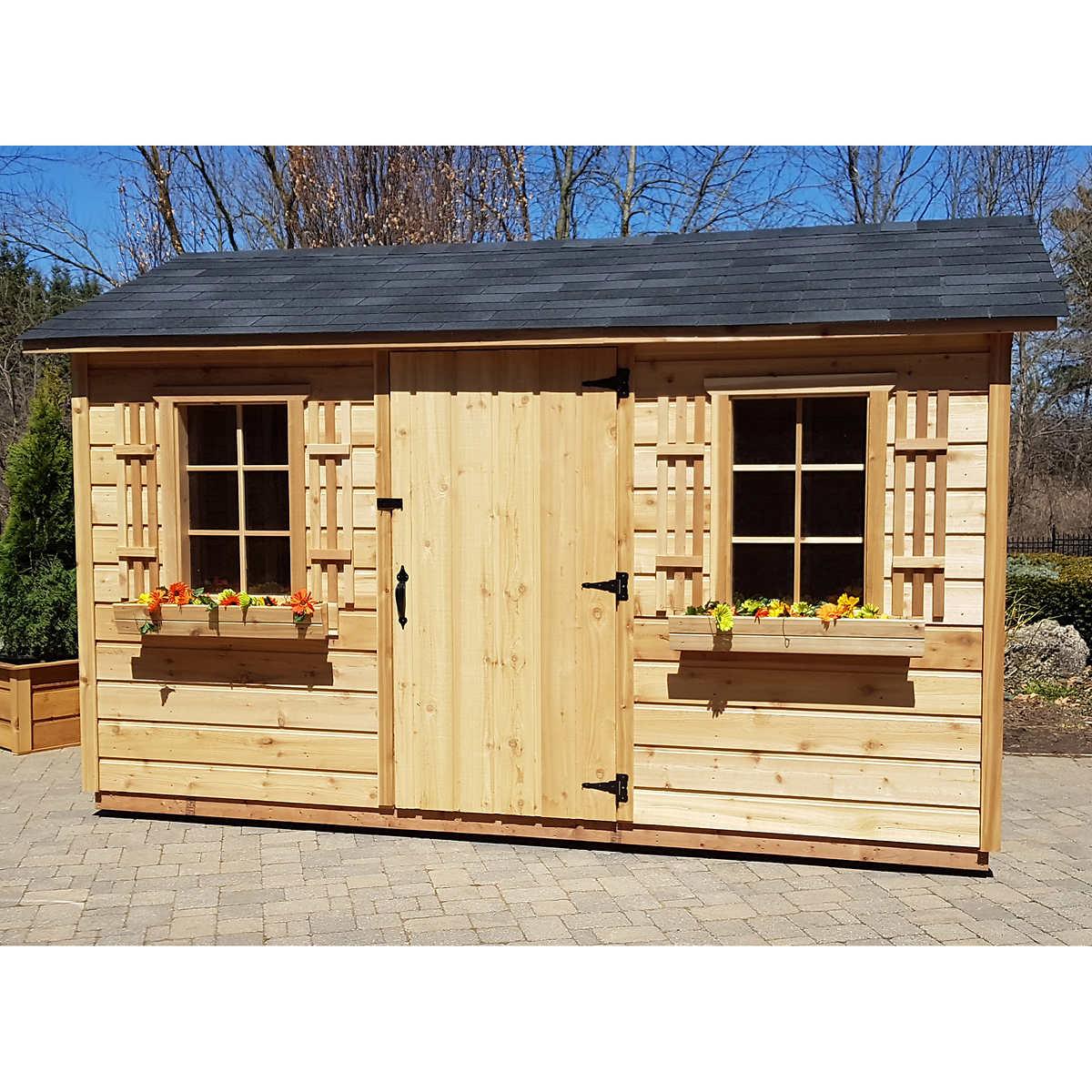 hampton 24 m x 37 m 8 ft x 12 ft storage shed - Garden Sheds 8 X 12