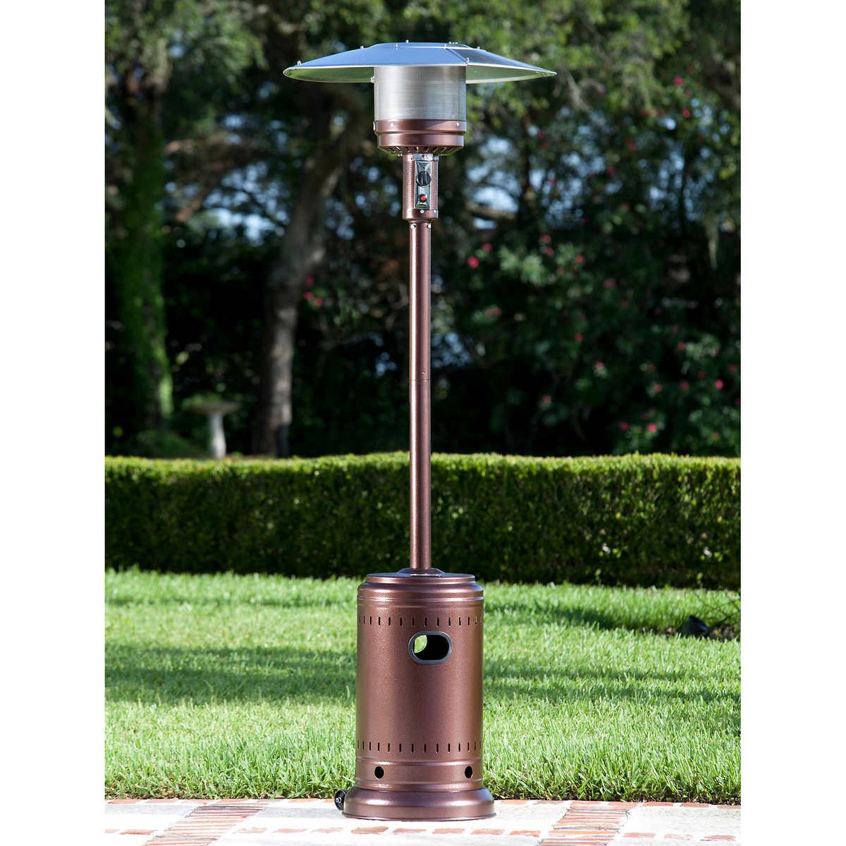 Paramount Bronze Patio Heater with Wheels - Patio Heaters & Fire Columns Costco
