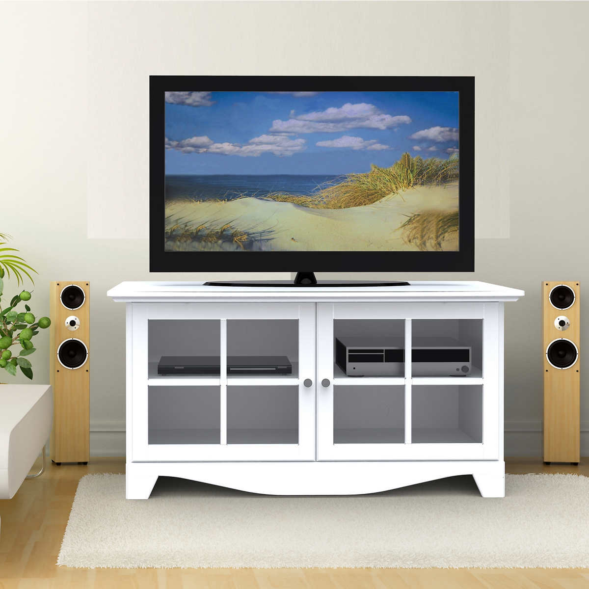 television stands  consoles  costco - alpha white in television stand