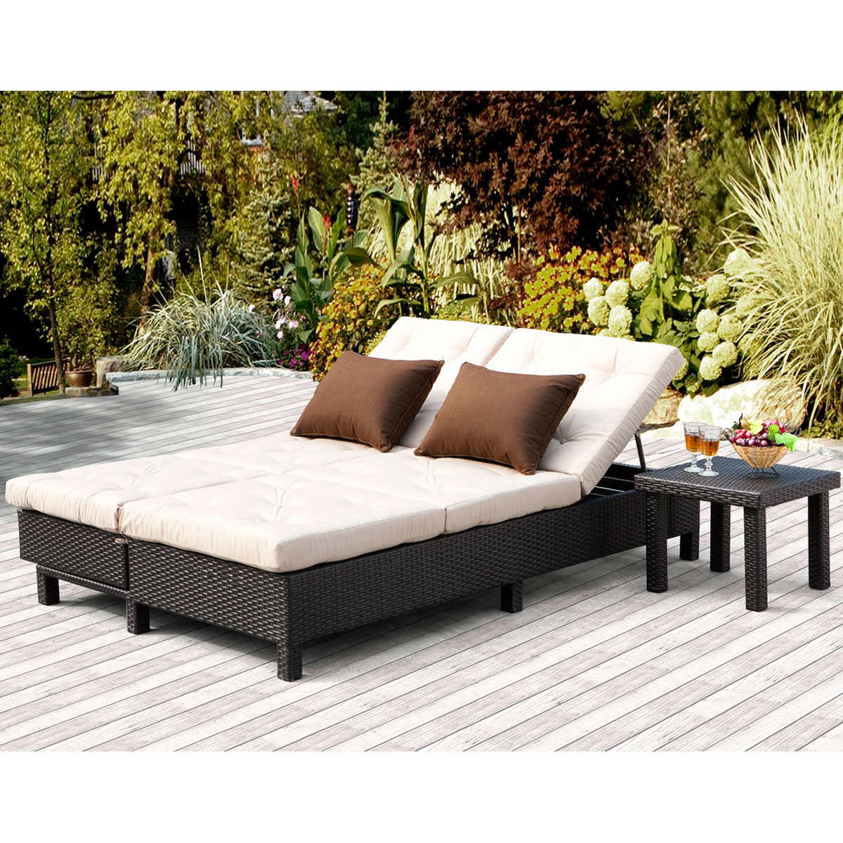 Outdoor chaise lounge costco kirkland signature for Agio wicker chaise lounge
