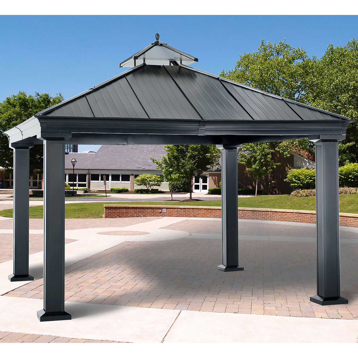 Sunjoy 12 ft. x 12 ft. Royal Square Hardtop Gazebo