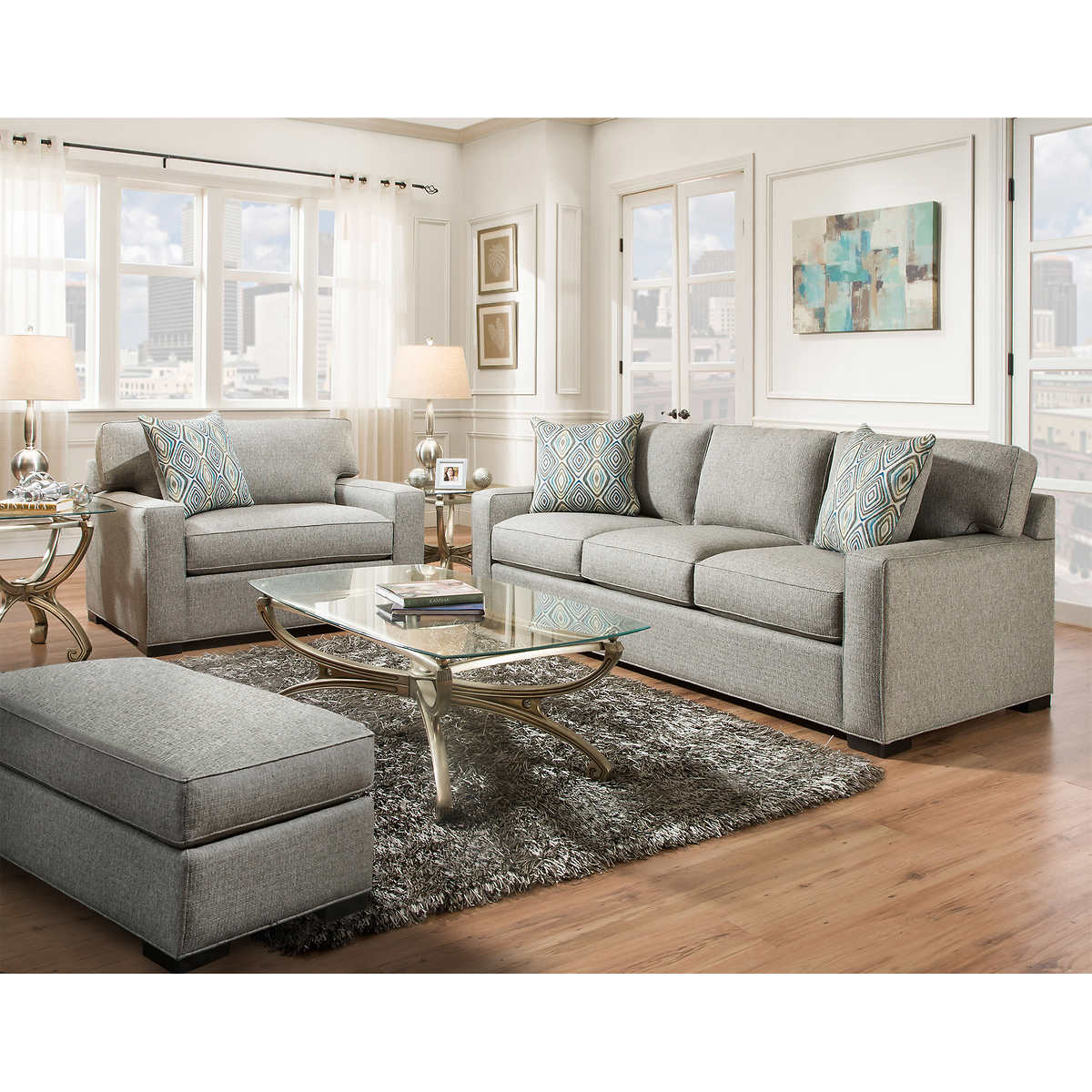 Brown Living Room Couches fabric sofas & sectionals | costco