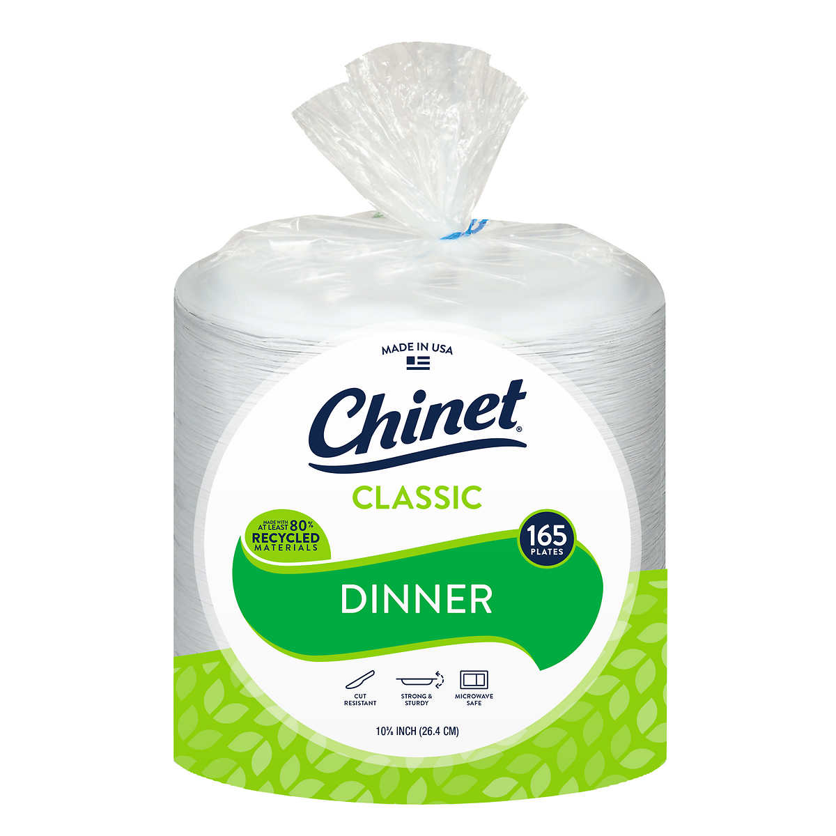 Chinet Dinner 10 38 In Paper Plate Classic White 165 Count