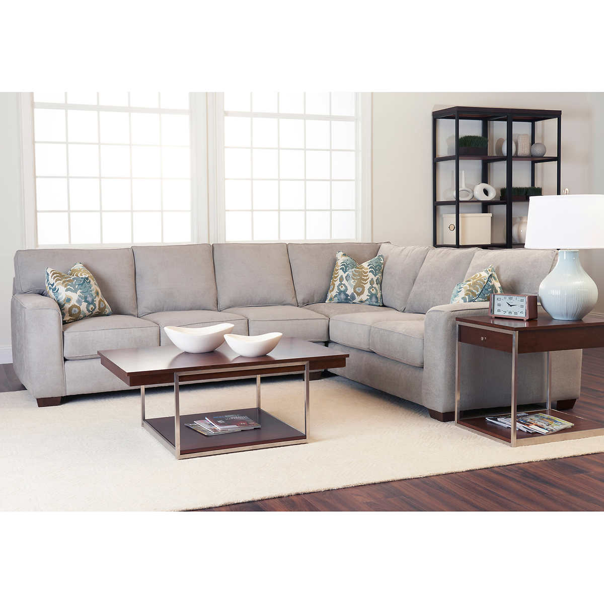 fabric sofas sectionals costco abbott 2 piece fabric sectional