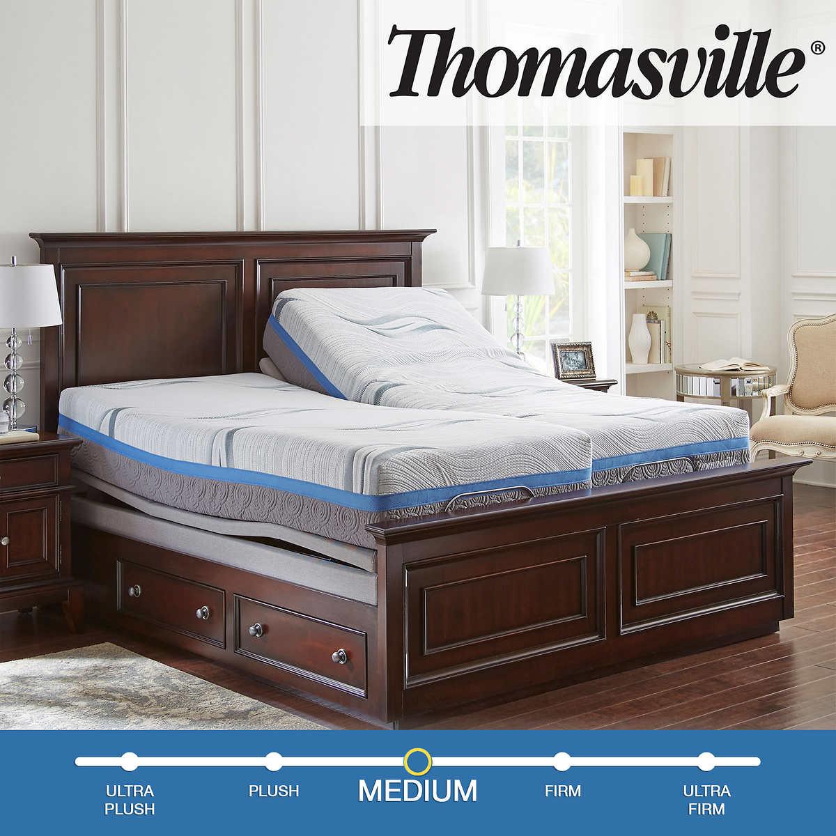 mattress split king adjustable bed frame with nightstand