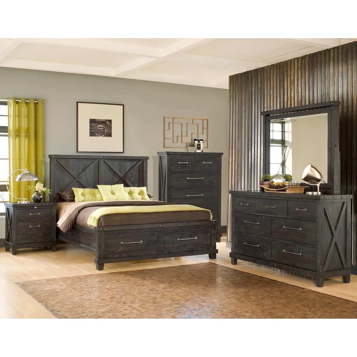 Queen Bedroom Sets With Storage queen bedroom sets | costco