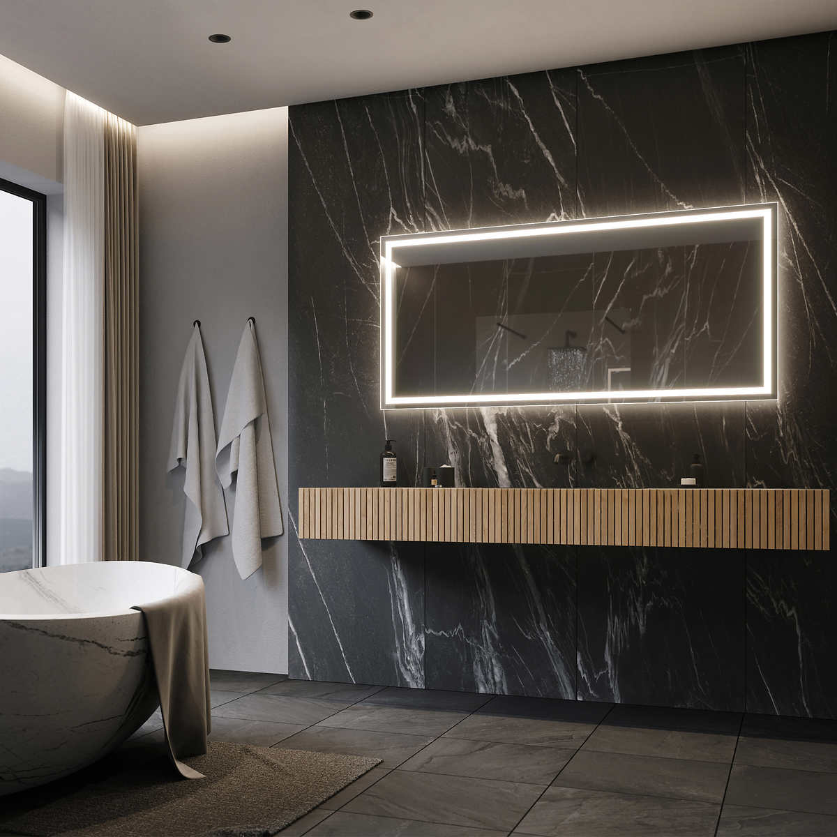 home decor costco illuminated led mirror 60