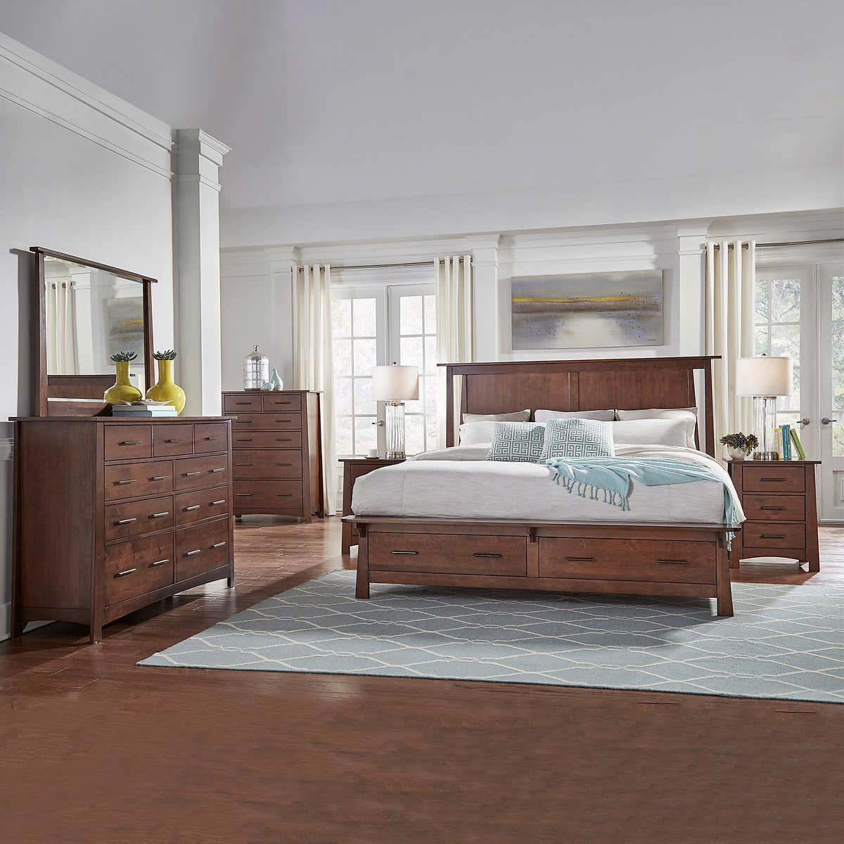 Gray King Bedroom Sets Gray 6 Piece King Bedroom Set Asher