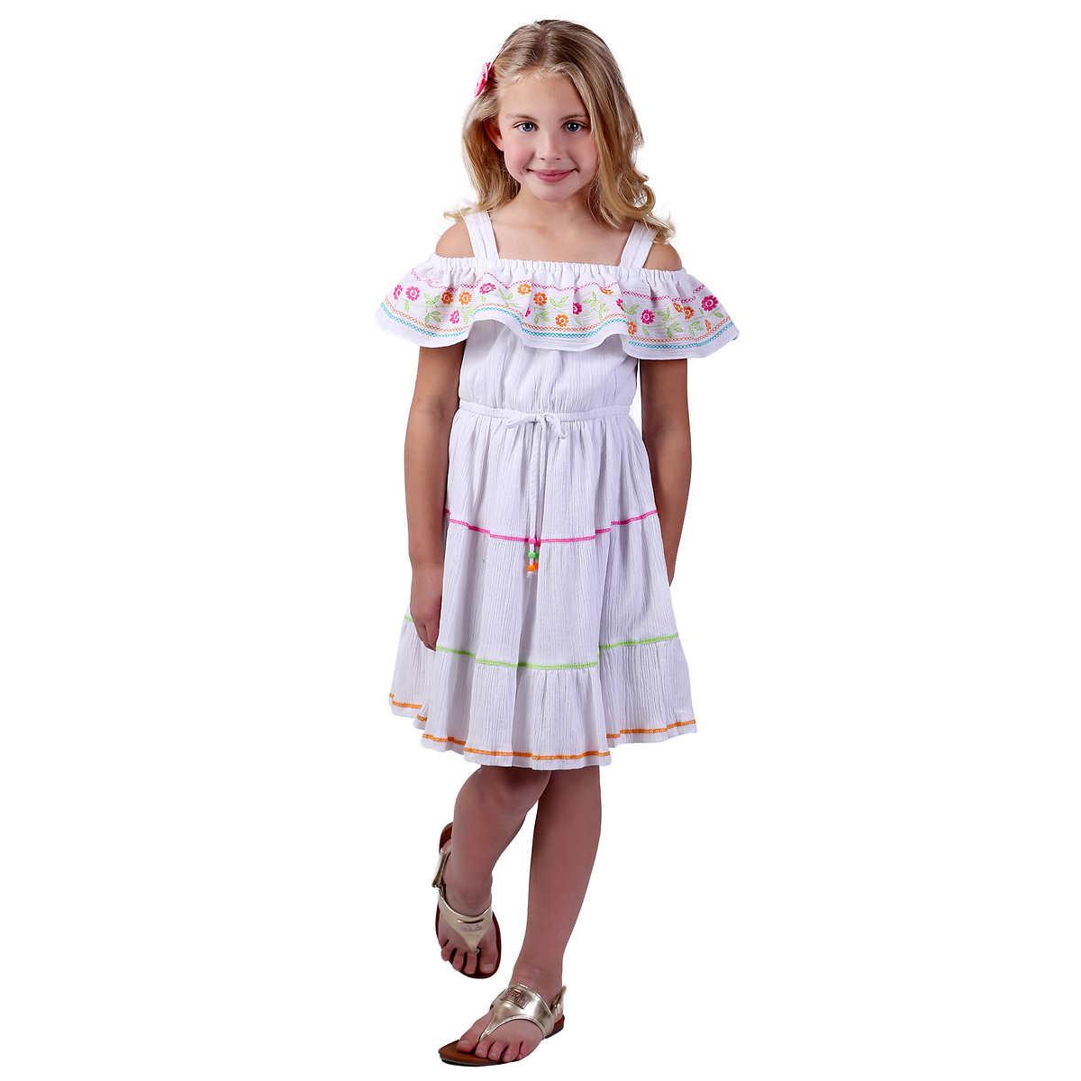 plain white flower girl dresses uk