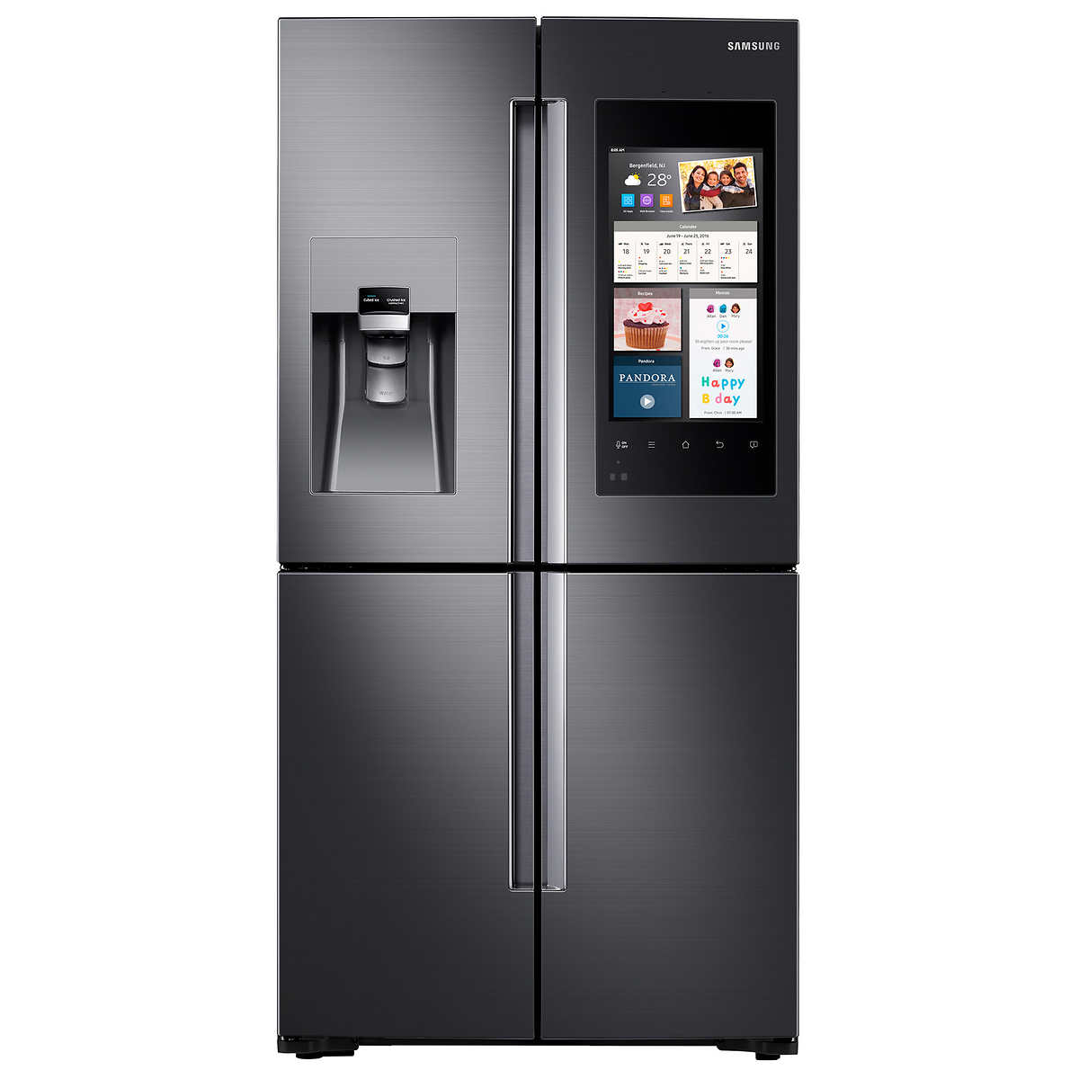 refrigerators costco samsung 22cuft 4 door french door counter depth refrigerator with family hub in black