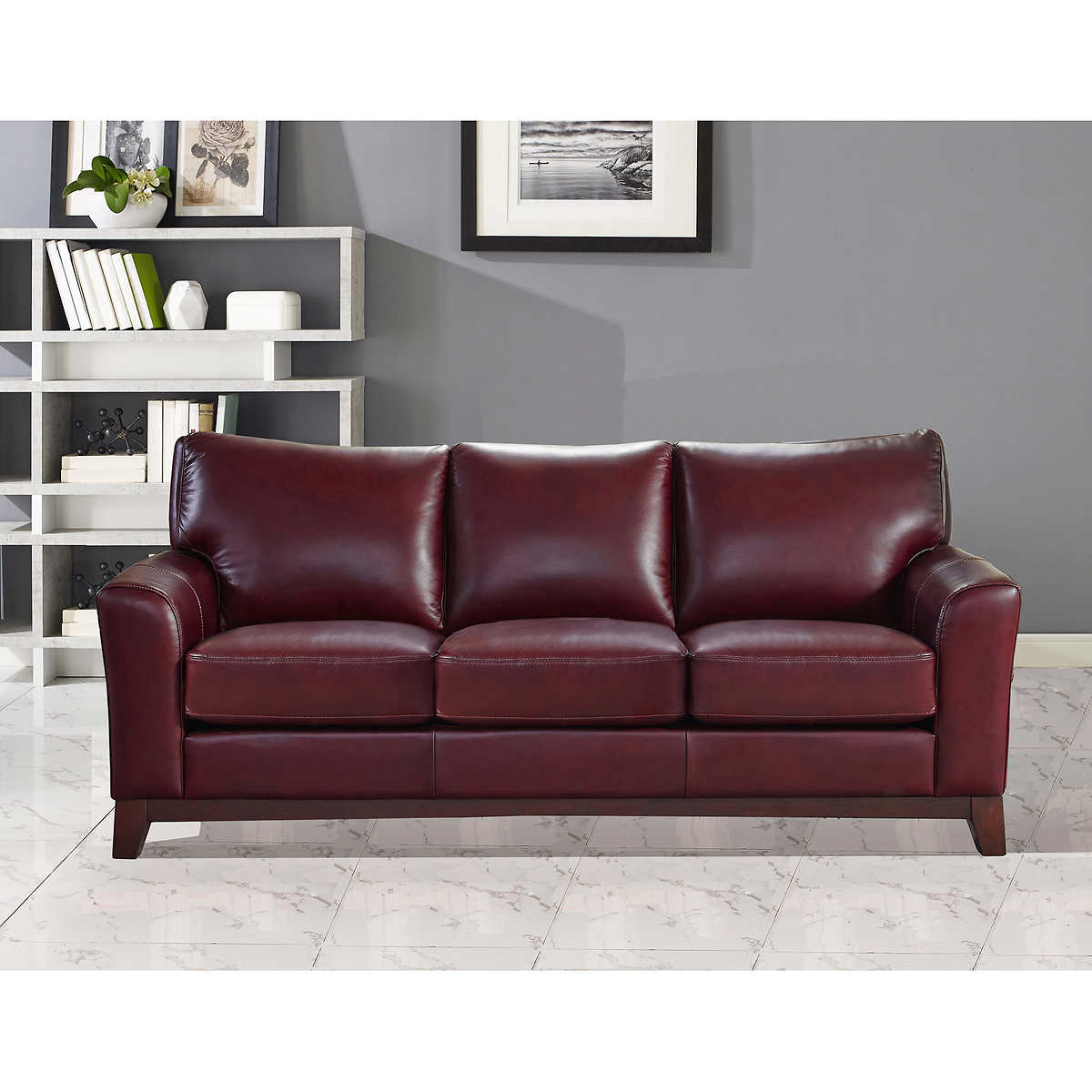 Leather Sofa Furniture leather sofas & sectionals | costco