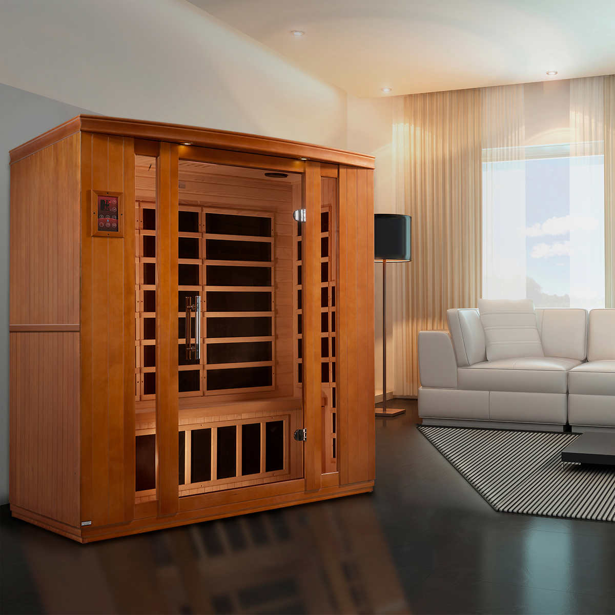 dynamic barcelona 1 to 2 person far infrared sauna