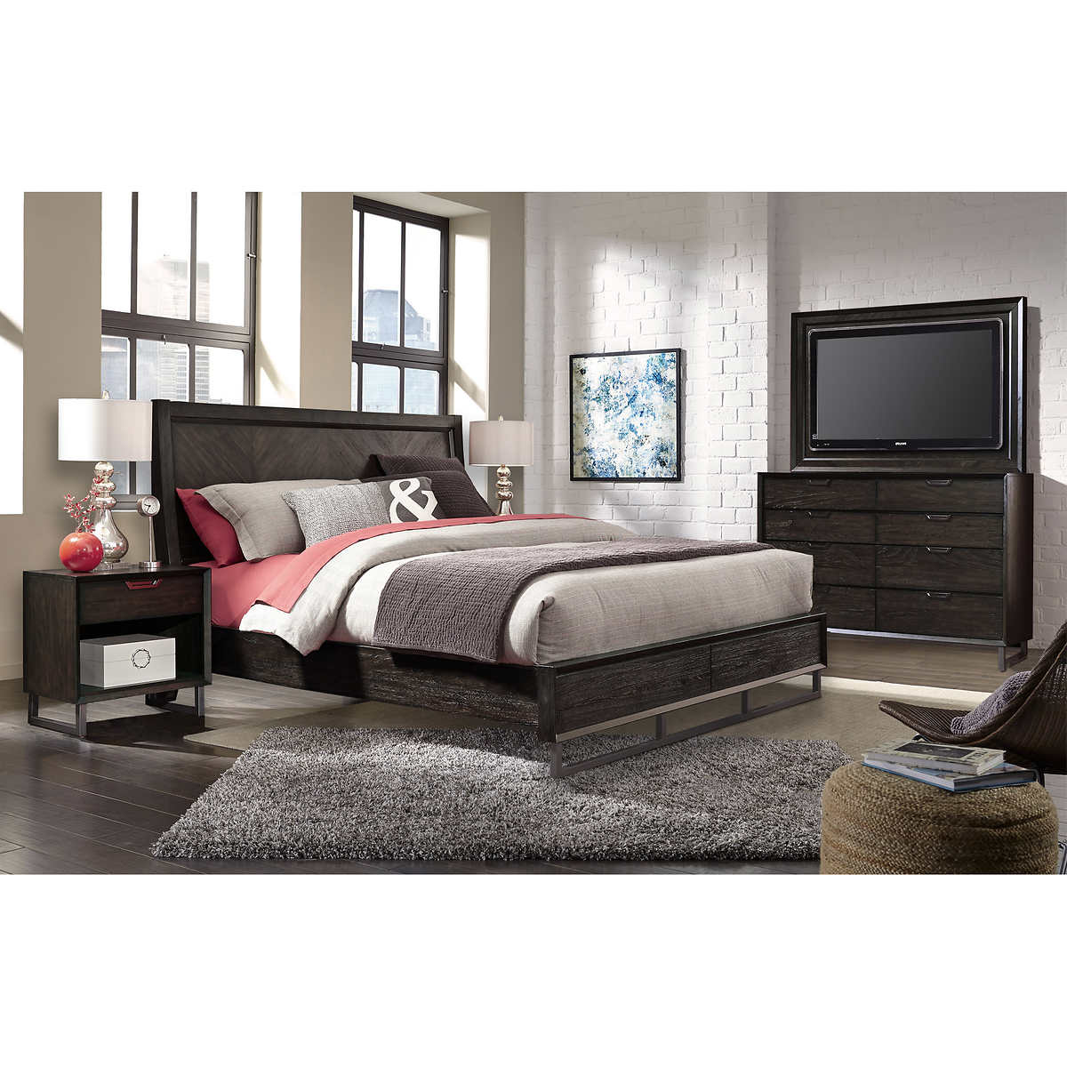 new haven 5 piece cal king media bedroom collection click to zoom